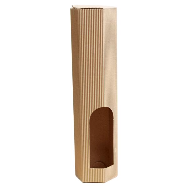 Kutija za jednu butelju KK/e 80x80x350mm - šesterokutna-0