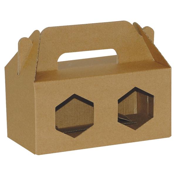 Poklon kutija za med 2K/e 180x90x90mm 2x370ml-0