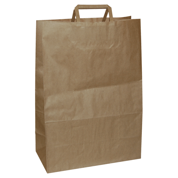 Natron vrećica 22x10x28cm - smeđa-0