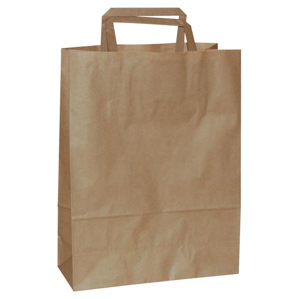 Natron vrećica 32x16x44cm - smeđa-0