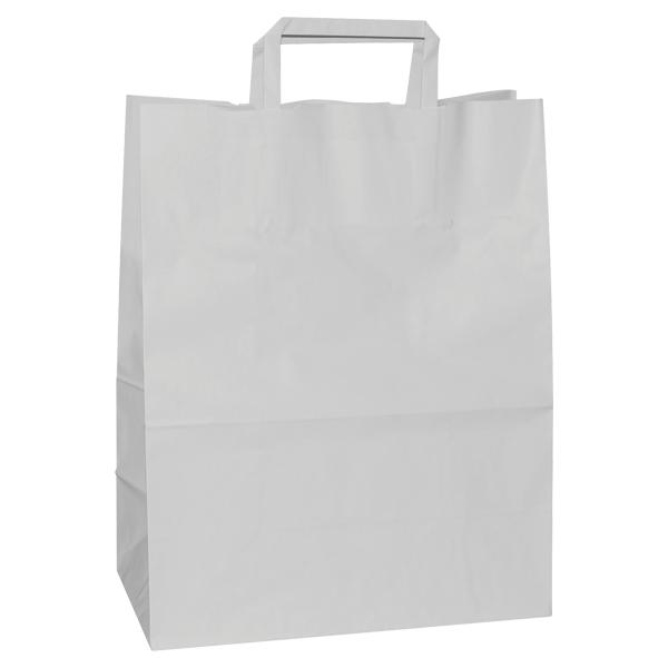 Natron vrećica 22x10x28cm - bijela-0