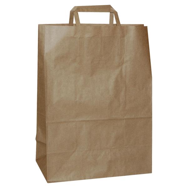 Natron vrećica 26x17x25cm - smeđa-0