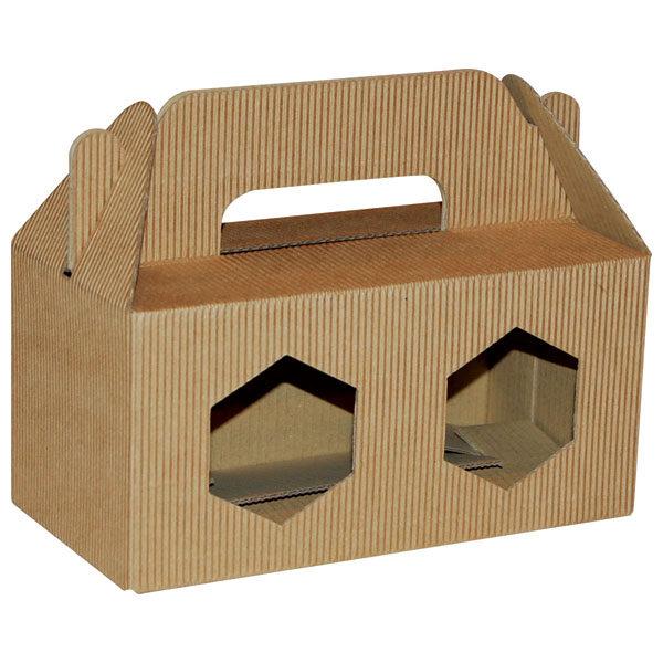 Poklon kutija za med KV/FE 180x90x90mm 2x370ml - rebrasta-0