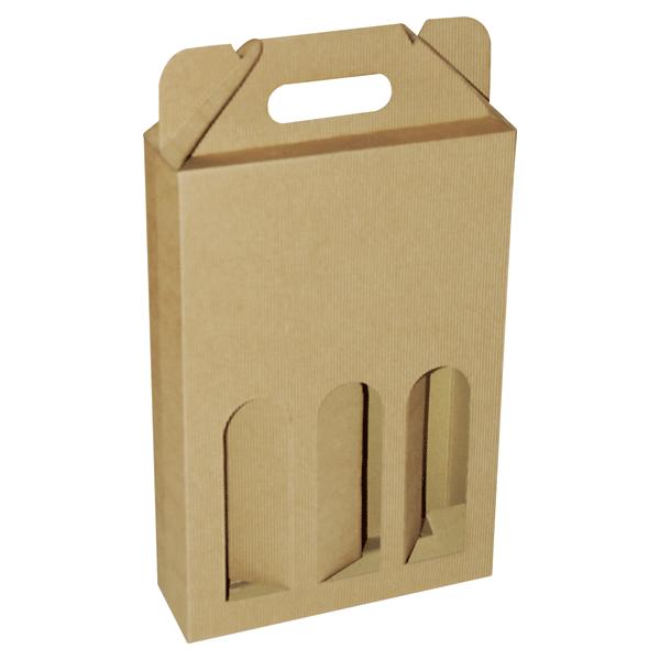 Kutija za tri butelje KV/FE 240x80x350mm - rebrasta-0