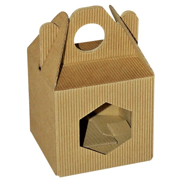 Poklon kutija za med KV/FE 90x90x90mm 1x370ml - rebrasta-0