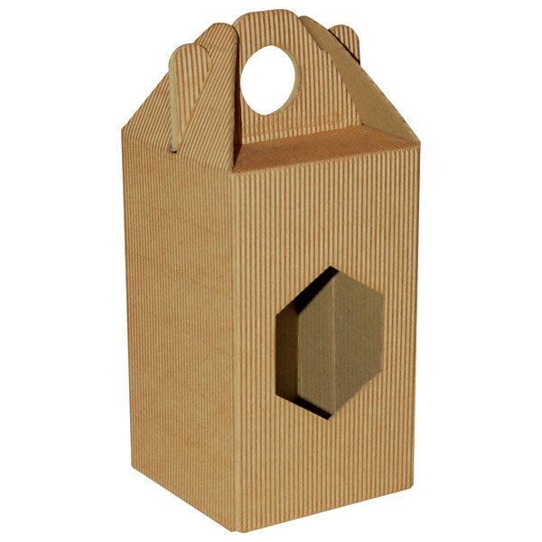 Poklon kutija za med KV/FE 90x90x160mm 1x720ml - rebrasta-0