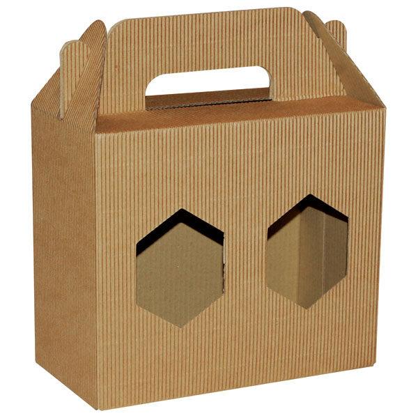 Poklon kutija za med KV/FE 180x90x160mm 2x720ml - rebrasta-0