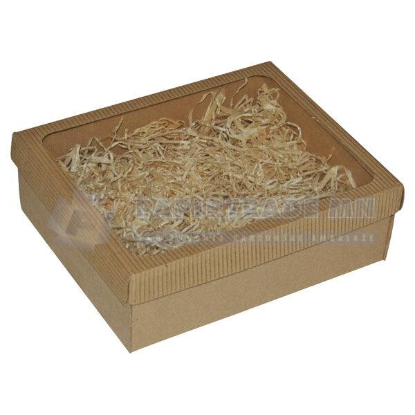Ukrasna poklon kutija 220x180x70mm sa slamicom - ISTRA-0