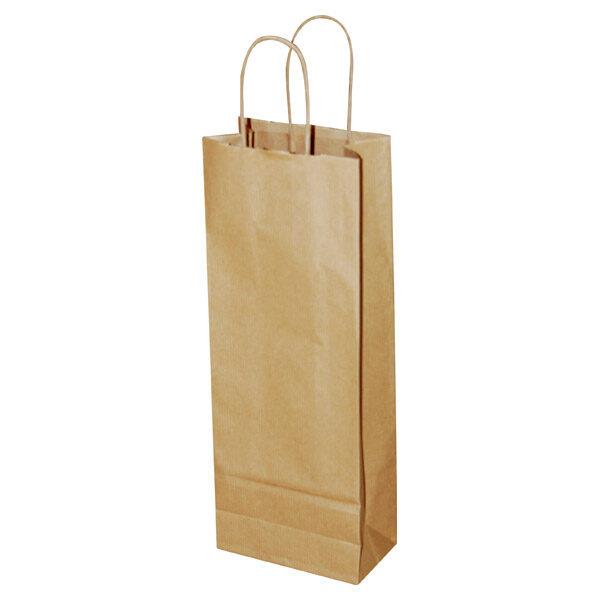 Natron vrećica za butelju 14+8*39 cm smeđa-0