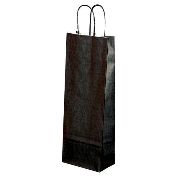 Natron vrećica za butelju 14x8x39 cm crna-0