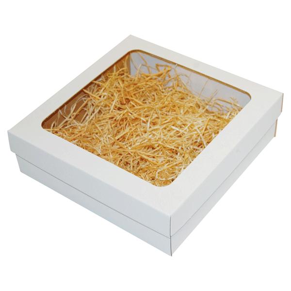 Ukrasna poklon kutija 240x240x70mm sa slamicom - BARANJA-0